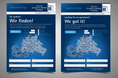 Website-Connection - Der Allgemeine Grund & Boden Fundus - A6 Flyer