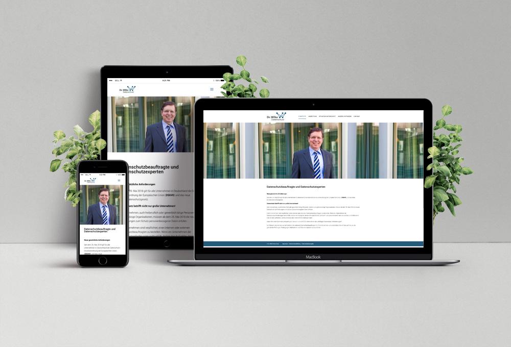 Kundenreferenz Website Dr. Wilke Datenschutz